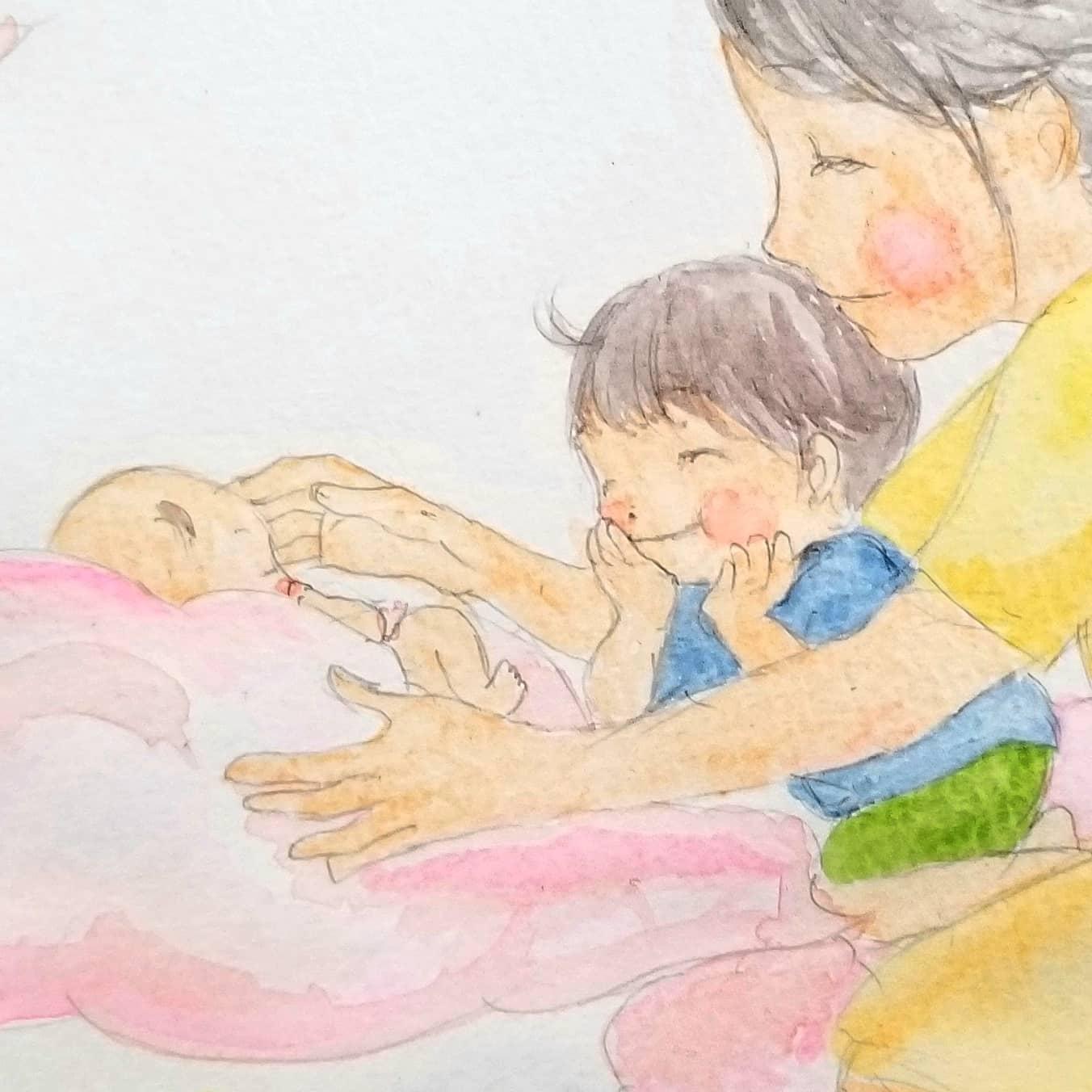 【お兄ちゃんと。お姉ちゃんと。】赤ちゃんが生まれたらお兄ちゃんお姉ちゃんきっとうれしいけれどママをとられたような気がしますわらべうたベビーマッサージでお兄ちゃんお姉ちゃんを癒してあげませんか?今日がいい日かもしれません(o^-^o)家族のためにわらべうたベビーマッサージを。仙台:おおうち#新生児#わらべうた#わらべうたベビーマッサージ#産後(Instagram)